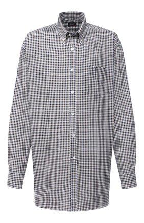 Мужская хлопковая рубашка PAUL&SHARK коричневого цвета, арт. I20P3055/C00 | Фото 1
