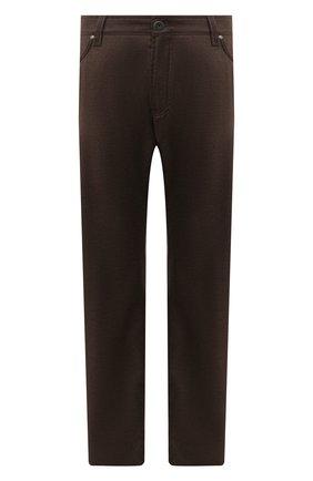 Мужские брюки из шерсти и кашемира CORTIGIANI коричневого цвета, арт. 913572/S409/0000/2396/60-70 | Фото 1