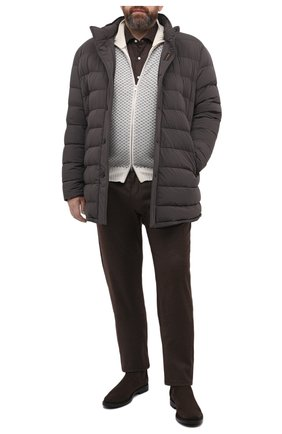Мужские брюки из шерсти и кашемира CORTIGIANI коричневого цвета, арт. 913572/S409/0000/2396/60-70 | Фото 2