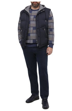 Мужской пуховый жилет CORTIGIANI темно-синего цвета, арт. 914620/0000/60-70 | Фото 2