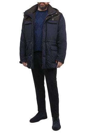 Мужская пуховик CORTIGIANI темно-синего цвета, арт. 918634/0000/60-70 | Фото 2