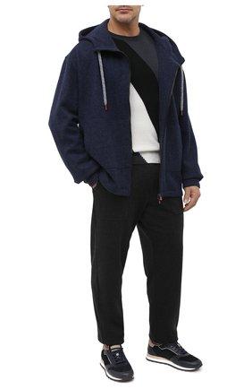 Мужской кашемировый кардиган KITON темно-синего цвета, арт. UMC010K01T20/4XL-8XL | Фото 2