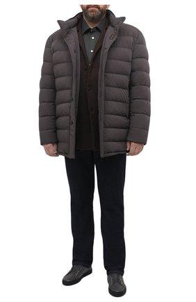 Мужская хлопковая рубашка KITON хаки цвета, арт. UMCNERH0740907/45-50 | Фото 2
