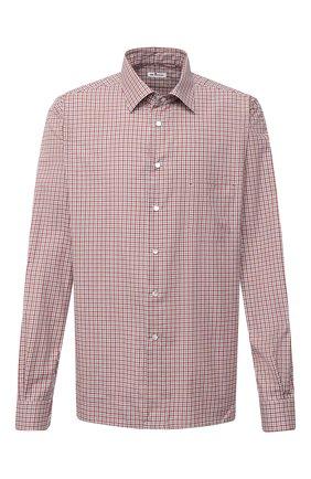 Мужская хлопковая рубашка KITON красного цвета, арт. UMCNERCH0747109/45-50 | Фото 1