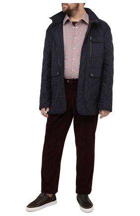 Мужская хлопковая рубашка KITON красного цвета, арт. UMCNERCH0747109/45-50 | Фото 2