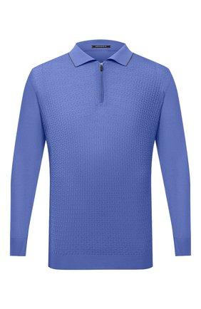 Мужское шерстяное поло SVEVO голубого цвета, арт. 13080XSA20/MP13 | Фото 1