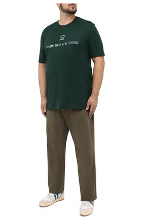 Мужской хлопковые брюки POLO RALPH LAUREN зеленого цвета, арт. 711713346/PRL BS DENIM | Фото 2