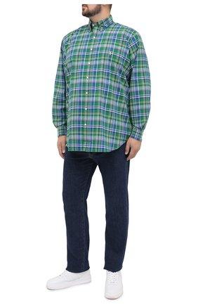 Мужская хлопковая рубашка POLO RALPH LAUREN разноцветного цвета, арт. 711798110/4668/PRL BS | Фото 2