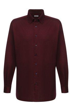 Мужская хлопковая рубашка ZILLI красного цвета, арт. MFU-64034-0001/0013/45-49   Фото 1