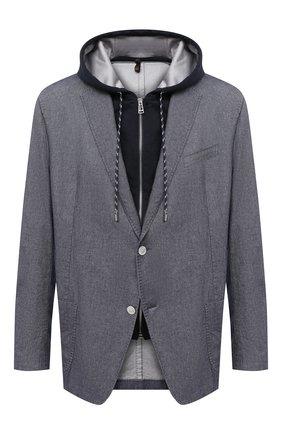 Мужской хлопковый пиджак WINDSOR синего цвета, арт. 13 GIN0-W-U 10006874/60-66 | Фото 1