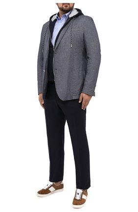 Мужской хлопковый пиджак WINDSOR синего цвета, арт. 13 GIN0-W-U 10006874/60-66 | Фото 2