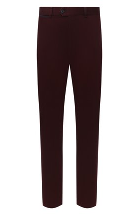 Мужской хлопковые брюки HILTL бордового цвета, арт. 72514/60-70 | Фото 1