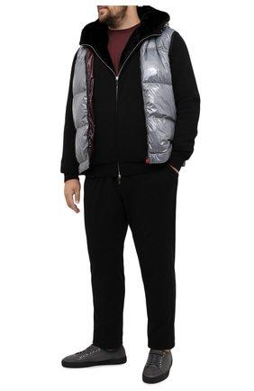 Мужской пуховый жилет KITON серого цвета, арт. UW0842MV03T96/60-68 | Фото 2