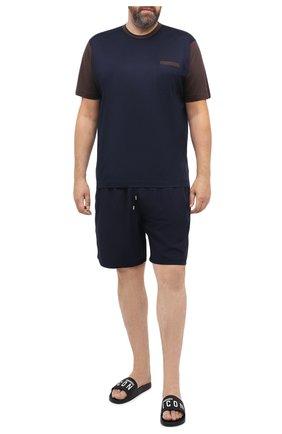 Мужские плавки-шорты VILEBREQUIN темно-синего цвета, арт. MONP701P/390 | Фото 2