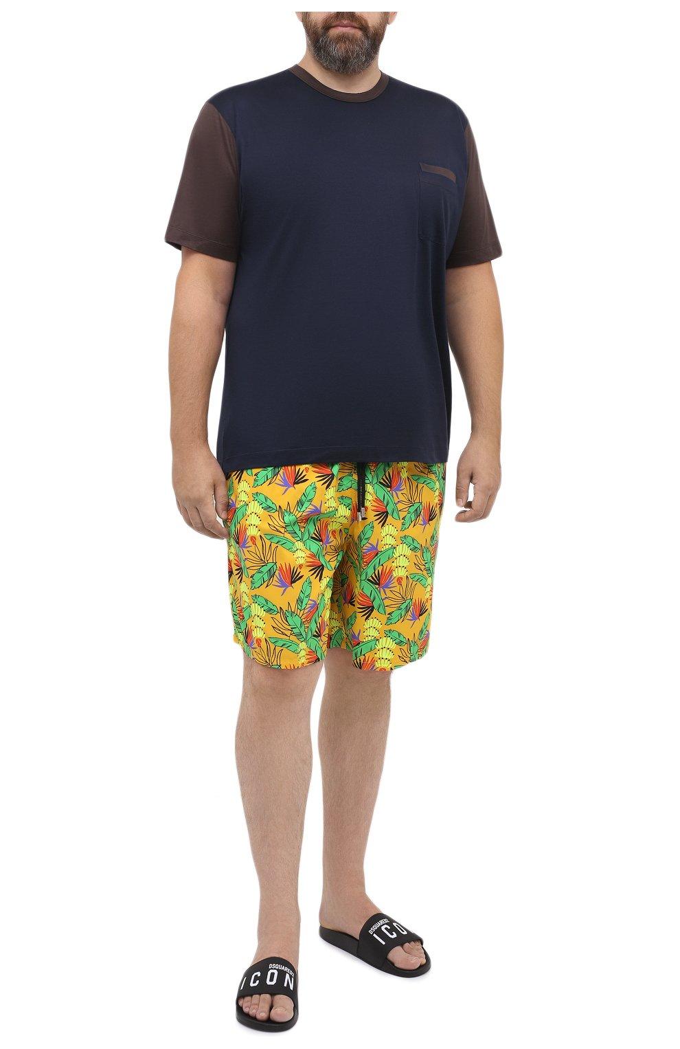 Мужские плавки-шорты VILEBREQUIN желтого цвета, арт. MONU0B14/118   Фото 2