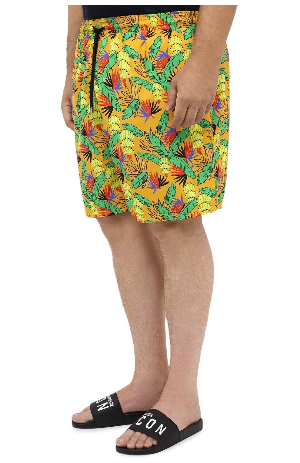 Мужские плавки-шорты VILEBREQUIN желтого цвета, арт. MONU0B14/118   Фото 3