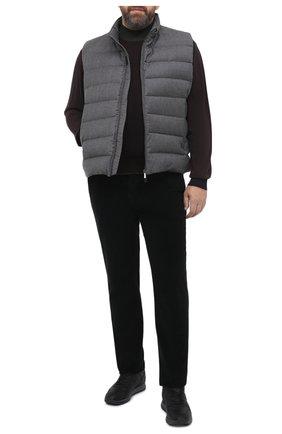 Мужские хлопковые брюки MARCO PESCAROLO черного цвета, арт. CARACCI0L0/4219   Фото 2