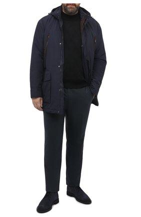 Мужские шерстяные брюки MARCO PESCAROLO темно-зеленого цвета, арт. CARACCI0L0/4266 | Фото 2