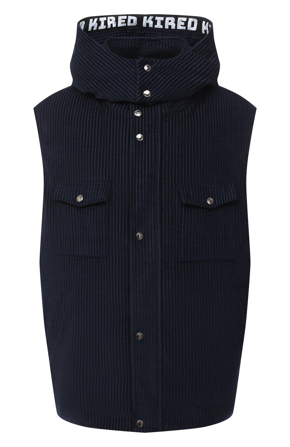 Мужской пуховый жилет KIRED синего цвета, арт. WBEARW7204001000/62-72 | Фото 1