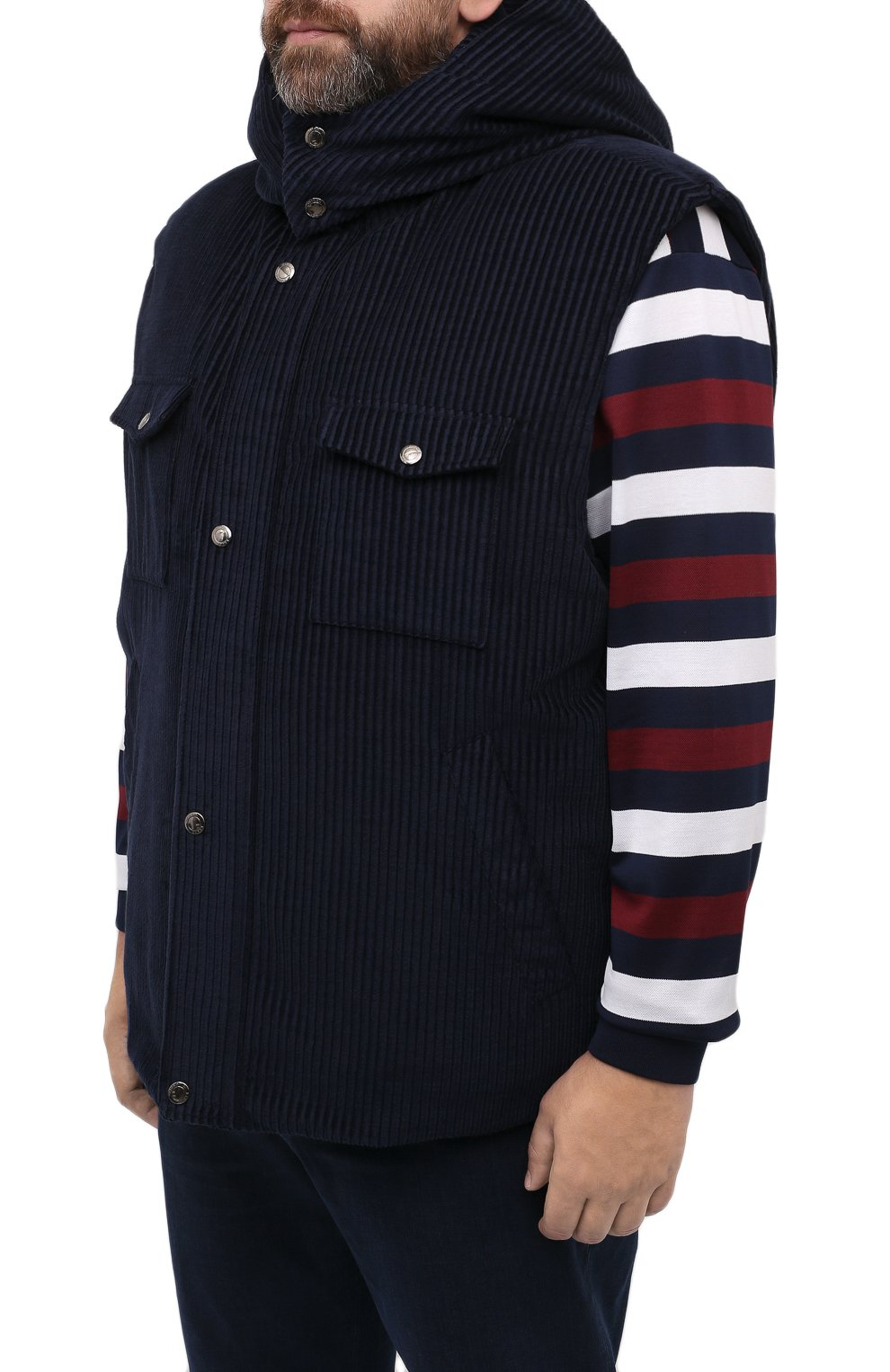 Мужской пуховый жилет KIRED синего цвета, арт. WBEARW7204001000/62-72 | Фото 3