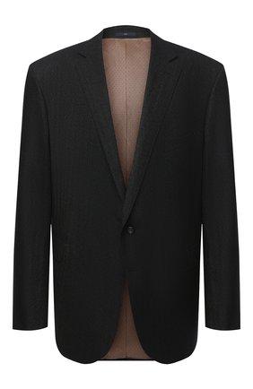 Мужской шерстяной пиджак EDUARD DRESSLER коричневого цвета, арт. 6431/26006 | Фото 1