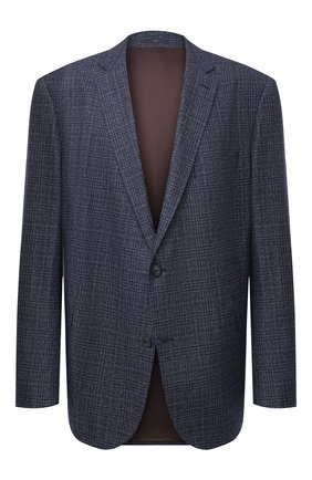 Мужской шерстяной пиджак EDUARD DRESSLER синего цвета, арт. 6431/40S41 | Фото 1