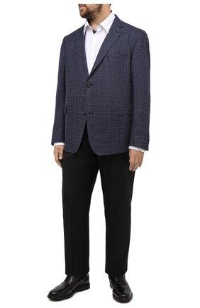 Мужской шерстяной пиджак EDUARD DRESSLER синего цвета, арт. 6431/40S41 | Фото 2