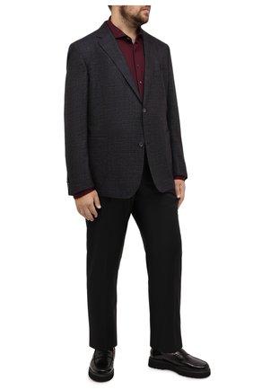 Мужской шерстяной пиджак EDUARD DRESSLER темно-синего цвета, арт. 6461/26011 | Фото 2