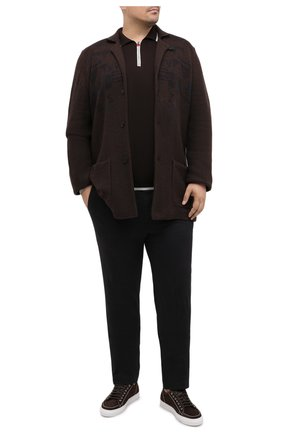 Мужской кардиган из шерсти и кашемира CORTIGIANI коричневого цвета, арт. 919116/0000/60-70 | Фото 2