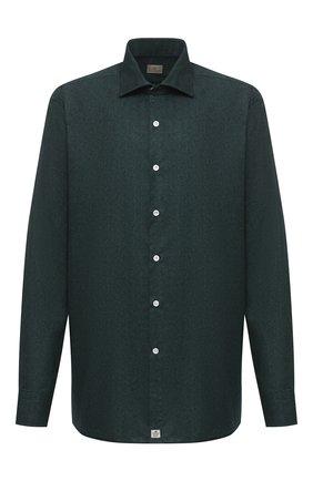 Мужская хлопковая рубашка SONRISA темно-зеленого цвета, арт. IL7/L1084/47-51 | Фото 1