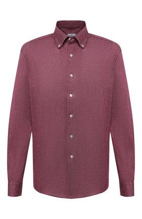 Мужская хлопковая рубашка SONRISA бордового цвета, арт. IFJ7167/J134 | Фото 1