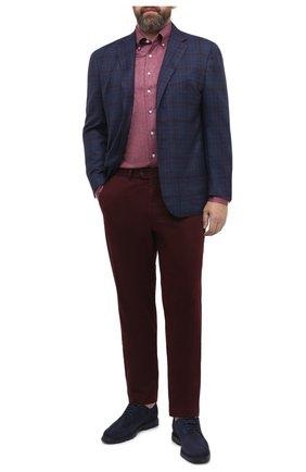 Мужская хлопковая рубашка SONRISA бордового цвета, арт. IFJ7167/J134 | Фото 2