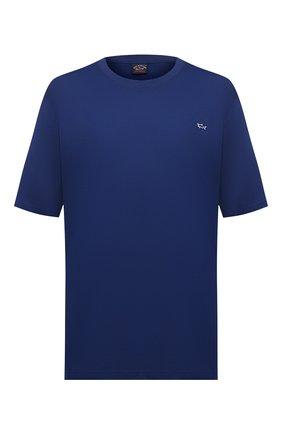 Мужская хлопковая футболка PAUL&SHARK синего цвета, арт. C0P1092/C00/3XL-6XL | Фото 1