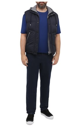 Мужская хлопковая футболка PAUL&SHARK синего цвета, арт. C0P1092/C00/3XL-6XL | Фото 2