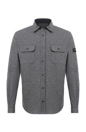 Мужская шерстяная рубашка PAUL&SHARK серого цвета, арт. I20P30910S/AYX | Фото 1