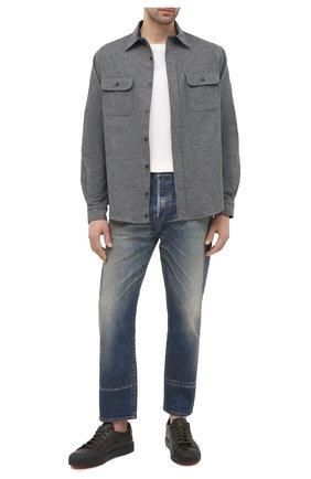 Мужская шерстяная рубашка PAUL&SHARK серого цвета, арт. I20P30910S/AYX | Фото 2