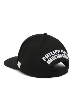 Мужской хлопковая бейсболка PHILIPP PLEIN черного цвета, арт. F20A UAC0045 PTE003N | Фото 2