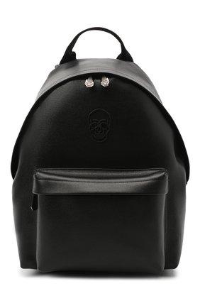 Мужской кожаный рюкзак PHILIPP PLEIN черного цвета, арт. F20A MBA0974 PLE004N | Фото 1
