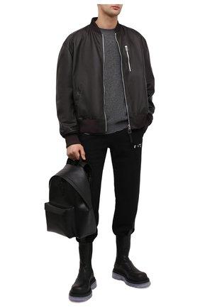 Мужской кожаный рюкзак PHILIPP PLEIN черного цвета, арт. F20A MBA0974 PLE004N | Фото 2