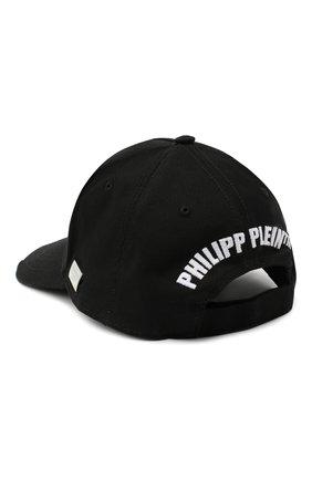 Мужской хлопковая бейсболка PHILIPP PLEIN черно-белого цвета, арт. F20A UAC0039 PTE003N | Фото 2
