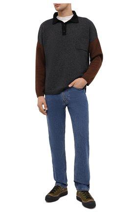 Мужские текстильные кеды bosey mc CONVERSE хаки цвета, арт. 168562   Фото 2