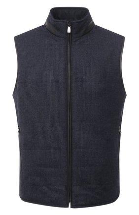 Мужской утепленный жилет CORNELIANI темно-синего цвета, арт. 86C516-0812404/00 | Фото 1