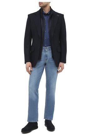 Мужской утепленный жилет CORNELIANI темно-синего цвета, арт. 86C516-0812404/00 | Фото 2