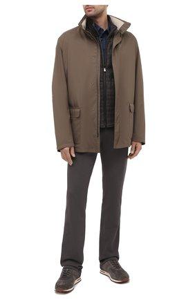 Мужской двусторонний жилет CORNELIANI коричневого цвета, арт. 86C516-0816318/00 | Фото 2