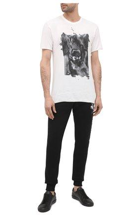 Мужская хлопковая футболка RH45 белого цвета, арт. JX05 | Фото 2 (Рукава: Короткие; Длина (для топов): Стандартные; Материал внешний: Хлопок)