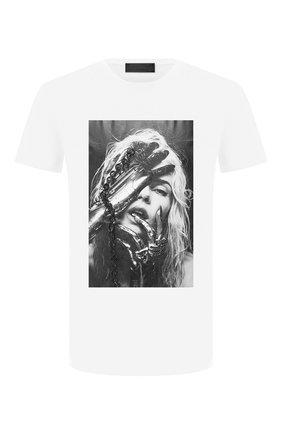 Мужская хлопковая футболка RH45 белого цвета, арт. JS12-I | Фото 1 (Длина (для топов): Стандартные; Рукава: Короткие; Материал внешний: Хлопок)
