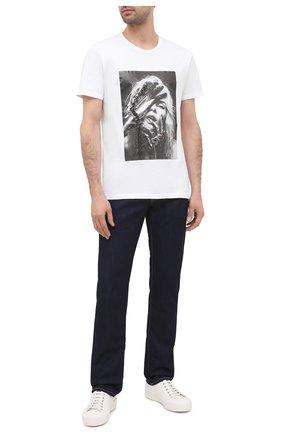 Мужская хлопковая футболка RH45 белого цвета, арт. JS12-I | Фото 2 (Длина (для топов): Стандартные; Рукава: Короткие; Материал внешний: Хлопок)