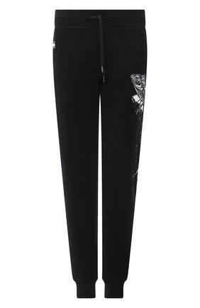Мужские хлопковые джоггеры RH45 черного цвета, арт. JP11-I | Фото 1 (Длина (брюки, джинсы): Стандартные; Материал внешний: Хлопок; Силуэт М (брюки): Джоггеры; Мужское Кросс-КТ: Брюки-трикотаж; Стили: Спорт-шик)