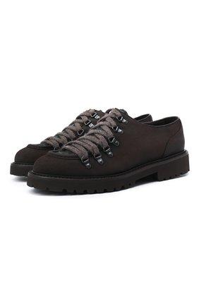 Мужские замшевые ботинки DOUCAL'S темно-коричневого цвета, арт. DU2736PHILPM469TM21   Фото 1