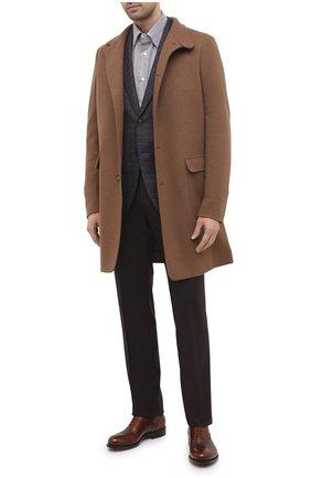 Мужская хлопковая сорочка BRIONI коричневого цвета, арт. SCAY0L/09022 | Фото 2